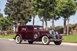 Обои Крайслер Винтаж Бордовые 1933 Custom Imperial Sedan by LeBaron машины