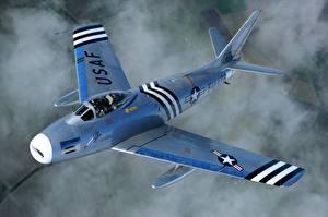 Фотография Самолеты Истребители Американская North American F-86А Sabre Авиация