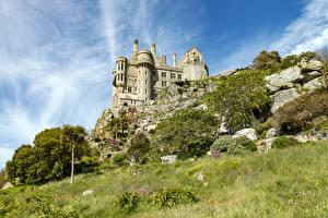 Обои Франция Замок Траве St Michael's Mount Города