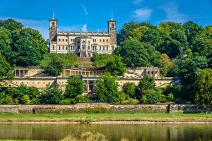 Картинка Германия Замок Деревьев Albrechtsberg Castle