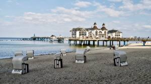 Фотографии Германия Курорты Пляжи Rügen, Sellin город