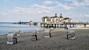 Фотографии Германия Курорты Пляжи Rügen, Sellin
