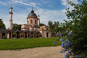Фотография Германия Храмы Церковь Газон Mosque in Schwetzingen Palace Города