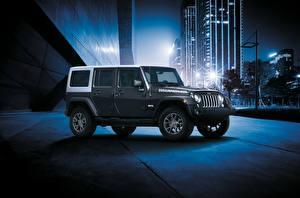 Фотографии Jeep Внедорожник Серый 2018 Wrangler Unlimited JK Edition авто