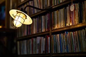 Фото Библиотеке Книга Лампа