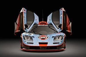Фотография Макларен Спереди Авто F1 GTR long tail 25R 1993 24 Hours of Le Mans Автомобили