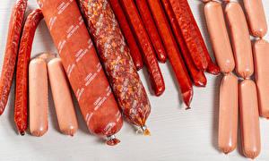 Картинка Мясные продукты Колбаса Сосиска Еда