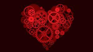 Картинка Механик День всех влюблённых Креатив Серце Шестеренки