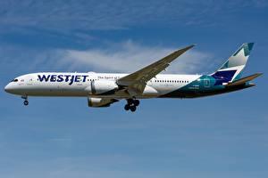 Фотография Пассажирские Самолеты Боинг Сбоку WestJet, 787-9