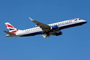 Фотографии Пассажирские Самолеты British Airways, Embraer ERJ-190 Авиация