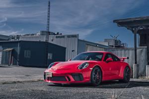 Фото Порше Красная GT3 авто