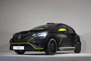 Обои для рабочего стола Рено Черных Купе 2019 Clio Cup авто