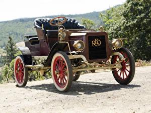 Фото Ретро Бордовый 1905-08 REO Model B Runabout авто