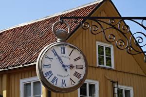 Обои Ретро Часы Циферблат Дома Старые