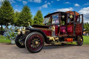 Картинка Rolls-Royce Ретро Бордовая 1913 Silver Ghost Автомобили