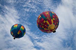 Фотографии Небо 2 Воздушный шар Вид снизу