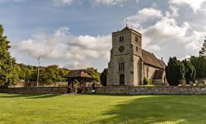 Картинка Великобритания Храм Церковь Газоне Bradenham St Botolph Church