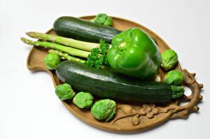 Фото Овощи Перец Кабачки Зеленая Еда
