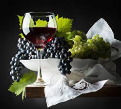Фотография Вино Виноград Бокалы