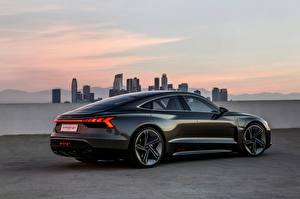 Фотографии Audi Черных Купе 2018 e-tron GT Concept