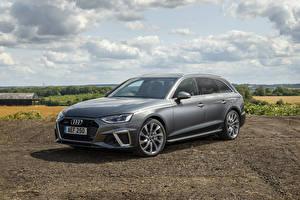 Фотографии Audi Серый Универсал 2019 A4 Avant 40 TDI S line quattro машины