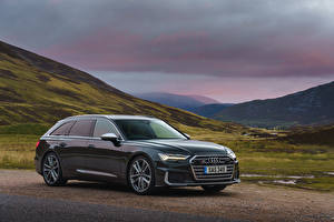 Обои Ауди Металлик Универсал 2019 S6 Avant TDI авто