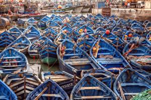 Фото Лодки Много Африка Morocco Essaouira seaport