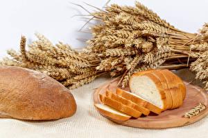 Фотография Хлеб Разделочной доске Нарезанные продукты Колос Пища