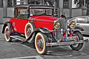 Фотографии Buick Старинные Красный 1931 66 S Sport Coupe