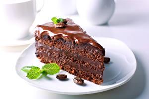 Обои для рабочего стола Пирожное Шоколад Кофе Торты Тарелка Зерно Часть Пища