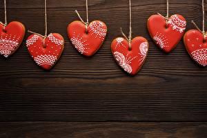 Фото Печенье День святого Валентина Серце Шаблон поздравительной открытки