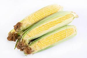 Фото Кукуруза Вблизи Белом фоне Пища