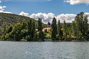 Обои Хорватия Парк Озеро Деревья Krka National Park Природа