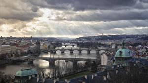 Фотографии Чехия Прага Мосты Речка Карлов мост Города