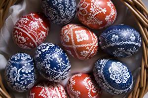 Картинка Пасха Орнамент Вблизи Яйцами
