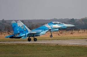 Обои Самолеты Истребители Взлет Су-27 Ukrainian Air Force Авиация