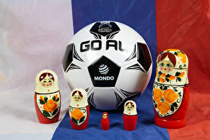 Картинки Футбол Мяч Матрешки спортивный