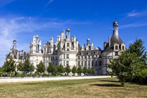Картинки Франция Замок Chambord Castle