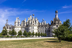 Картинки Франция Замок Chambord Castle город