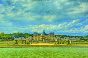 Фотография Франция Замок Реки Парки HDRI Chateau de Vaux
