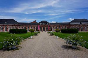 Картинка Германия Дворца Газоне Schwetzingen Palace город