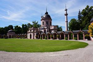 Обои Германия Храм Мечеть Газон Mosque in Schwetzingen Palace Города