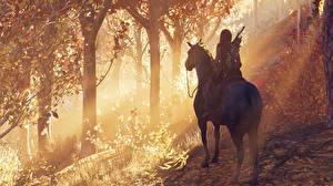 Фото Лошади Assassin's Creed Odyssey компьютерная игра 3D_Графика Девушки