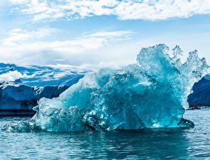Картинка Исландия Лед Auster-Skaftafellssysla Природа
