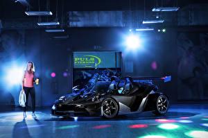 Картинки KTM Автомобили Черный 2018-19 Wimmer RS X-Bow Carbon DSG авто