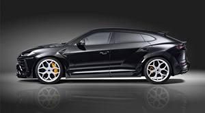Картинки Lamborghini Сбоку CUV Urus Novitec 2019 автомобиль
