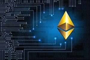 Фотография Логотип эмблема ethereum eth