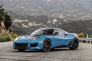 Фотографии Лотус Голубой Металлик 2020 Evora GT Автомобили
