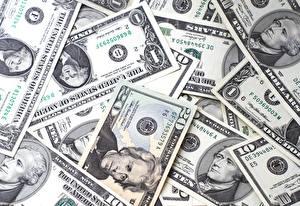 Картинка Деньги Купюры Доллары Текстура