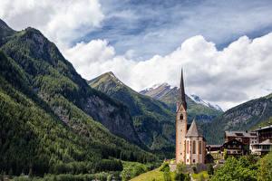 Фотография Гора Австрия Церковь Heiligenblut, Carinthia Природа Города